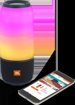Pulse3, Işıklı Bluetooth Hoparlör, Siyah