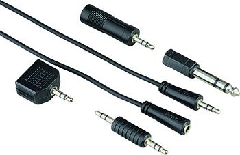 Kablo-Adaptör Seti 3.5mm/6.3mm 1S 2.5m