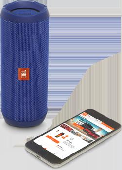 Flip4, Bluetooth Hoparlör, Mic., Mavi