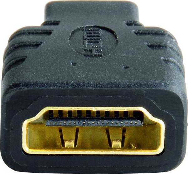Adaptör HDMI A Soket - D (Micro)Fiş Altın Uç Siyah