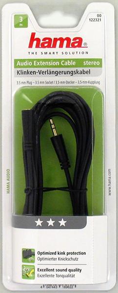 3.5mm - 3.5mm Soket, Stereo Kablo 3S 3m