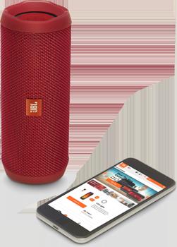 Flip4, Bluetooth Hoparlör, Mic., Kırmızı