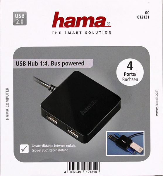 USB 2.0 Hub 1:4 Bus Powered Siyah
